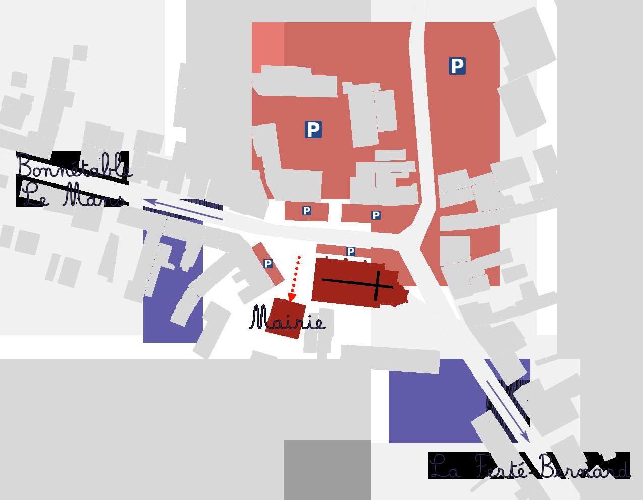 Plan accès mairie